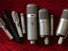 Assorted vintage microphones